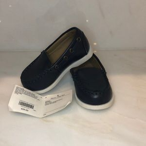Janie and jack navy blue loafers. Brand new !!